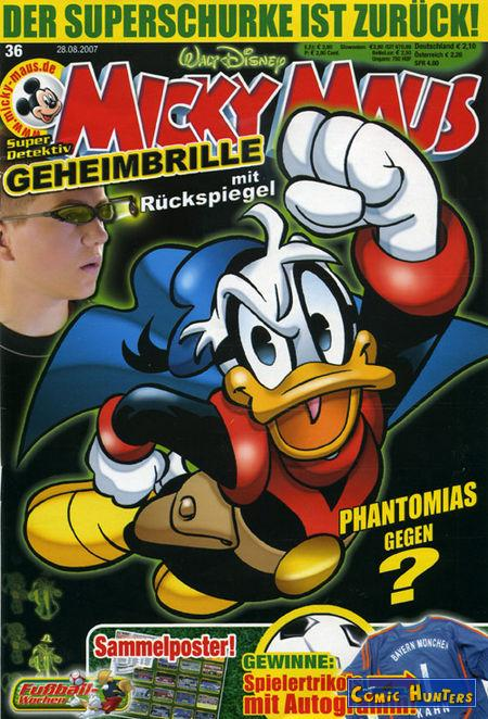 comic cover Micky Maus Magazin 36