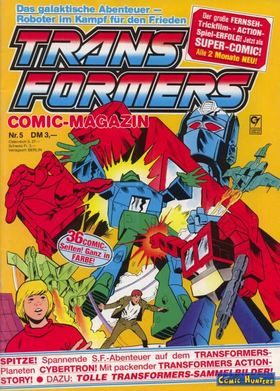 comic cover Transformers 5