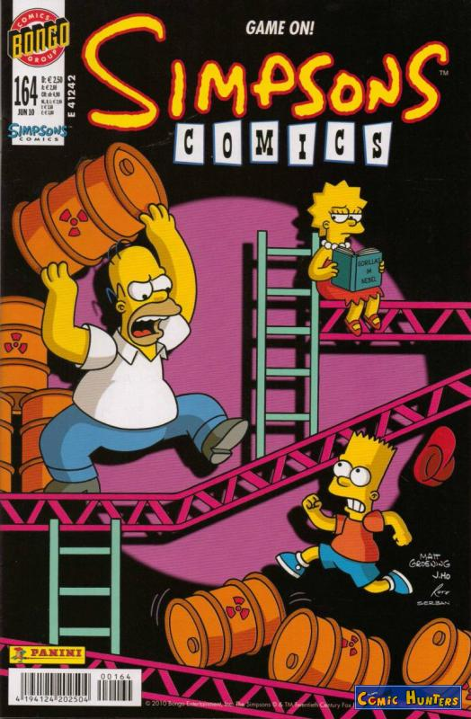 comic cover Simpsons Comics 164